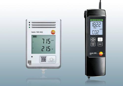 Máy đo khí CO2 Testo, cách đo nồng độ khí co2