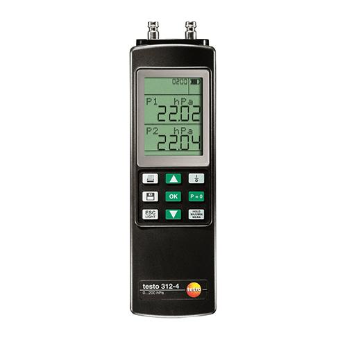 Dụng cụ đo áp suất vi sai Testo 312-4: Thiết bị đo áp suất vi sai