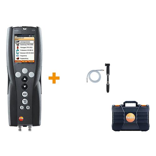 Máy đo áp suất và dò rò rỉ khí Testo 324, bộ dụng cụ đo áp suất và đo khí