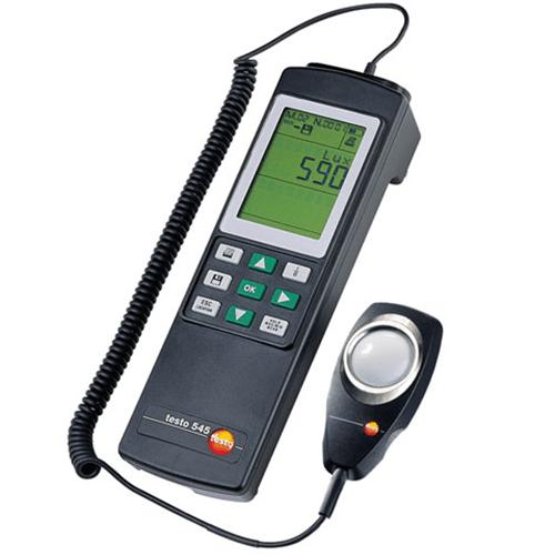 Máy đo cường độ ánh sáng Testo 545, đồng hồ đo ánh sáng, Lux kế