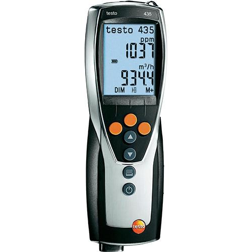 Máy đo đa năng Testo 435-4: đo nhiệt độ độ ẩm, áp suất, lưu lượng không khí.