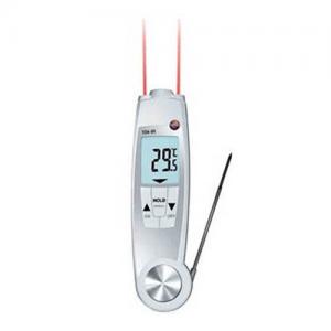 Nhiệt kế Testo 104 IR: Máy đo nhiệt độ thâm nhập, đo hồng ngoại.